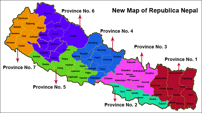 Nepal Map District Wise